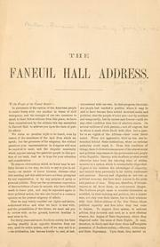 Cover of: The Faneuil hall address by Boston, Faneuil hall meeting, June 21, 1865