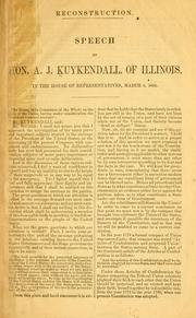 Cover of: Reconstruction | A. J. Kuykendall