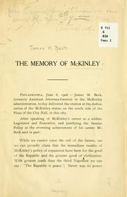 Cover of: The memory of McKinley | James Montgomery Beck