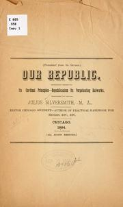 Cover of: Our republic | Julius Silversmith