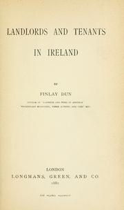 Cover of: Landlords and tenants in Ireland | Dun, Finlay