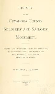 Cover of: History of Cuyahoga County soldiers' and sailors' monument by William J. Gleason