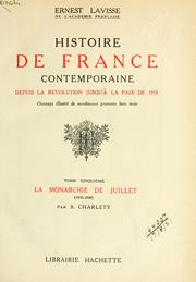 Cover of: Histoire de France contemporaine | Ernest Lavisse