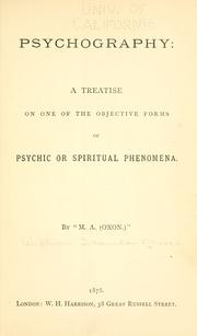 Cover of: Psychography by Stainton Moses