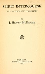 Cover of: Spirit intercourse by James Hewat McKenzie