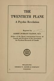 Cover of: The twentieth plane | Watson, Albert Durrant