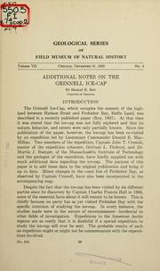 Cover of: Additional notes on the Grinnell ice-cap by Roy, Sharat Kumar