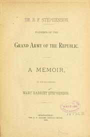 Cover of: Dr. B. F. Stephenson by Stephenson, Mary Harriet