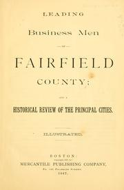 Cover of: Leading business men of Fairfield County | William Hale Beckford