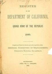Cover of: Register of the Department of California | Grand army of the republic. Dept. of California and Nevada.