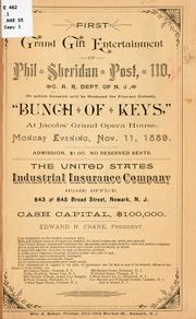 Cover of: First grand gift entertainment of Phil Sheridan post by Grand army of the republic. Dept. of New Jersey. Phil Sheridan post, no. 110, Newark.