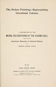 Cover of: The Stokes paintings representing Greenland Eskimo | American museum of natural history, New York