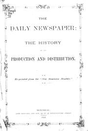 Cover of: The daily newspaper | G. H. F.