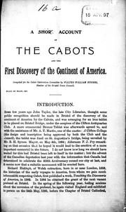 Cover of: A short account of the Cabots and the first discovery of the continent of America | Walter William Hughes