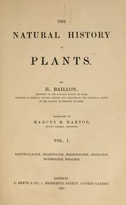Cover of: The natural history of plants by Henri Ernest Baillon