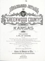 Cover of: Standard atlas of Greenwood County, Kansas | Geo. A. Ogle & Co.