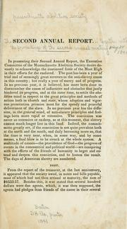 Cover of: The second annual report of the Massachusetts abolition society | Massachusetts abolition society