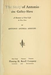 Cover of: The story of Antonio by Antonio Andrea Arrighi