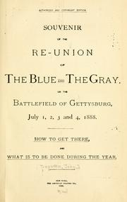 Cover of: Souvenir of the re-union of the blue and the gray by John Tregaskis