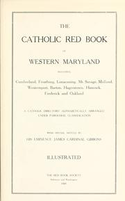 Cover of: The Catholic red book of Western Maryland | Red Book Society