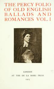 Cover of: Folio of Old English ballads and romances | Thomas Percy