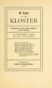 Cover of: A tale  of the Kloster | Ulysses Sidney Koons
