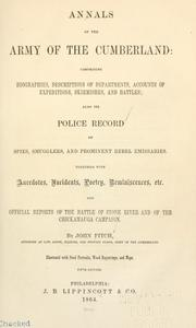 Cover of: Annals of the Army of the Cumberland | Fitch, John of Alton (Ill.)