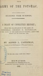 Cover of: The Army of the Potomac by Alfred L. Castleman