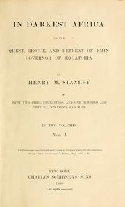 Cover of: In darkest Africa | Henry M. Stanley