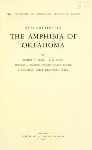 Cover of: Researches on the Amphibia of Oklahoma | Oklahoma Biological Survey.