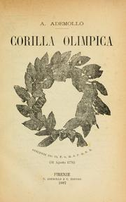 Cover of: Corilla Olimpica by Ademollo, Alessandro