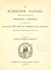 Cover of: The Hamilton papers | Hamilton, James Hamilton Duke of