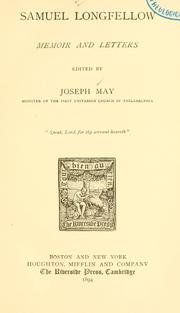 Cover of: Samuel Longfellow | May, Joseph.