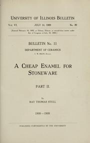 Cover of: A cheap enamel for stoneware by R. T. Stull