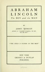 Cover of: Abraham Lincoln | Morgan, James