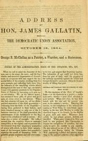 Cover of: Address by Hon. James Gallatin | Gallatin, James