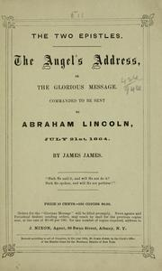 Cover of: The two epistles by James James