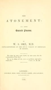 Cover of: The atonement by W. S. Oke