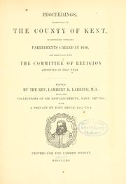 Cover of: Proceedings | Lambert B. Larking