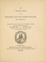 Cover of: The second book of the travels of Nicander Nucius of Corcyra | Nucius, Nicander