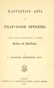 Cover of: Harvesting ants and trap-door spiders | Moggridge, J. Traherne