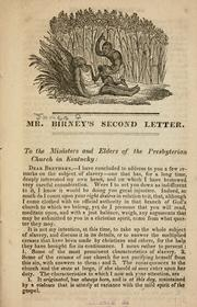 Cover of: Mr. Birney's second letter by Birney, James Gillespie