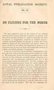 Cover of: No failure for the North | Francis Wayland