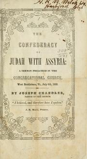 Cover of: The confederacy of Judah with Assyria by Chandler, Joseph Rev.