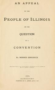 Cover of: An appeal to the people of Illinois on the question of a convention | Morris Birbeck