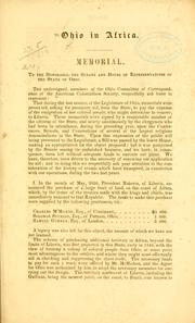 Cover of: Ohio in Africa | [American colonization society. Ohio committee on correspondence]