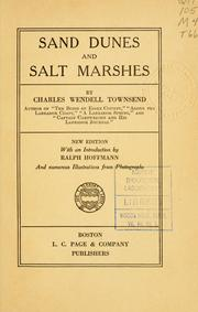 Cover of: Sand dunes and salt marshes | Townsend, Charles Wendell