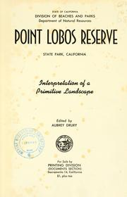 Cover of: Point Lobos Reseerve | Drury, Aubrey