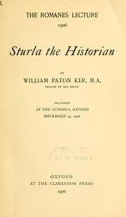 Cover of: Sturla the historian by William Paton Ker