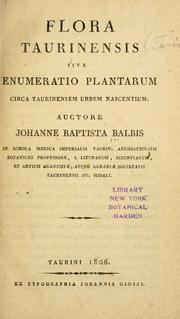 Cover of: Flora Taurinensis | Giovanni Battista Balbis